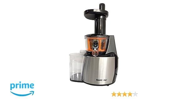 Montana JT-2013B - Exprimidor (Exprimidor lenta, Negro, Naranja, Plata, 80 RPM, 200 W, 50 Hz, 150 W): Amazon.es: Hogar