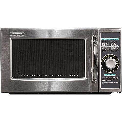Sharp R-21LCFS Medium Duty Commercial Microwave (Dial Timer, 1000-Watts, 120-Volts) (Update of...