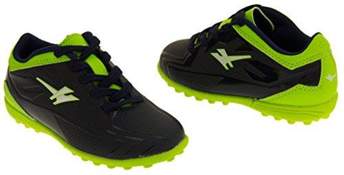 Footwear Studio - Botas de fútbol para niño negro negro Azul y Verde