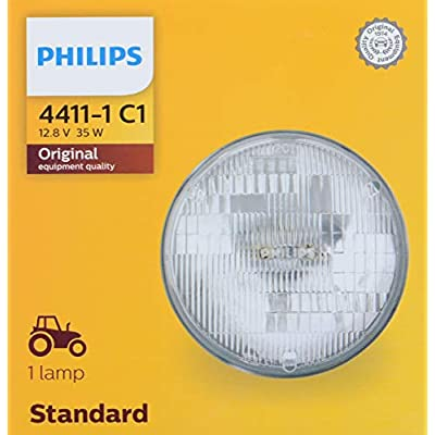 PHILIPS 4411C1 Standard Incandescent Sealed Beam headlamp, 1 Pack: Automotive