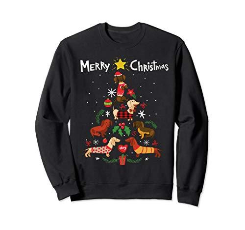Black Dachshund Ornaments - Funny Dachshund Christmas Tree Sweatshirt Ornament Gift