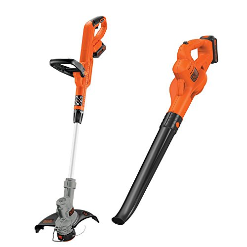 Black Decker 20-Volt Max Lithium-Ion Cordless String Trimmer/Sweeper Combo Kit (2-Tool) with (2) 1.5Ah Batteries and Charger Included by BLACK+DECKER