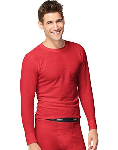Red Thermal (Hanes X-Temp Mens Organic Cotton Thermal Crew 14500, XL, Red)
