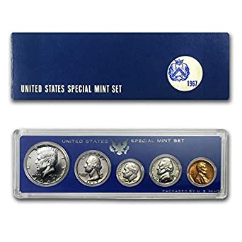 USA Special Mint Set OGP 1967 with Silver Kennedy Half Dollar SMS