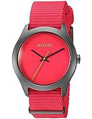 Nixon Womens A348-1600-00 Mod Analog Display Japanese Automatic Red Watch