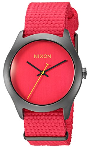 Nixon Women's A348-1600-00 Mod Analog Display Japanese Automatic Red Watch