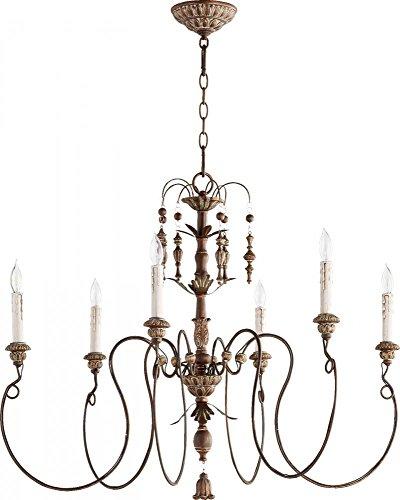 (Quorum Lighting 6006-6-39, Salento 1 Tier Chandelier Lighting, 6LT, 120 Watts, Vintage Copper)