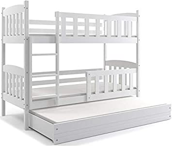 Interbeds Cama Litera Triple Jacob Color Blanco Para Colchones De