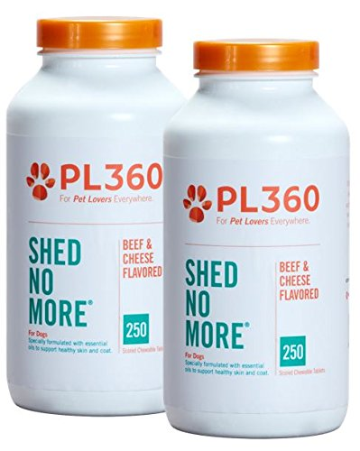 PL360 Shed No More for Dogs, 500Ct Chewable Tablets -