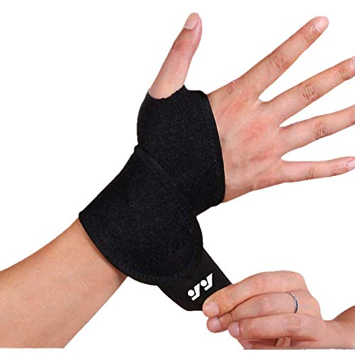 DSTong Wrist Support Brace Sports Exercise Training Hand Protector Neoprene Wrist Wraps with Thumb Loops -Suitable for Both Right and Left Hands(black/1pack) (Weight Lifting Wrist Wraps With Thumb Loop)