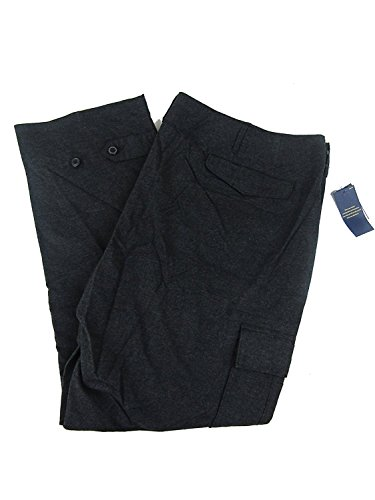 Polo Ralph Lauren Men's Big & Tall Flannel Cargo Pants (50B X 30, Onyx Heath) by Polo Ralph Lauren