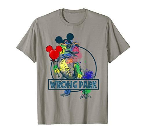 (Wrong Park Dinosaur Shirt Funny T-Rex Wrong Park Gift Tshirt)