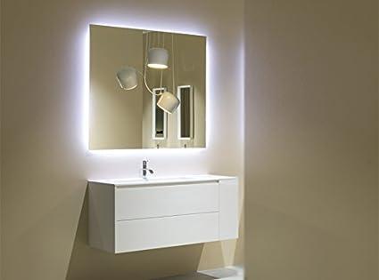 Antonio Lupi Mobile bagno Piana mobile con lavabo 126cm e specchio ...