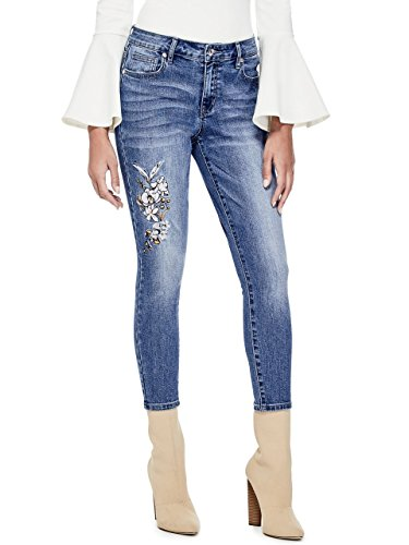 G by GUESS Women's Ashley Embroidered Skinny Jeans