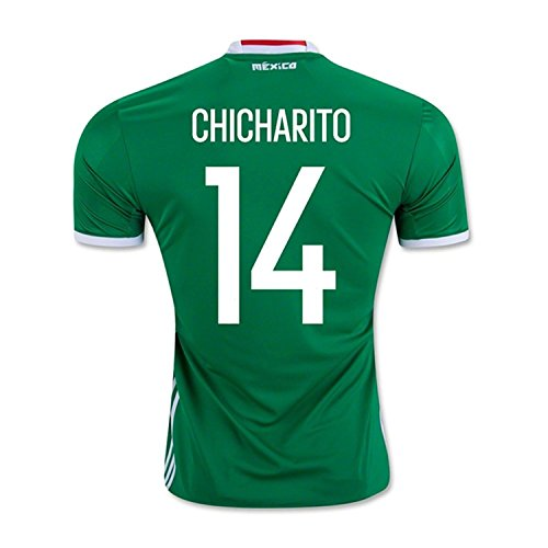 辛い感謝オフAdidas Chicharito #14 Mexico Home Jersey Copa America Centenario 2016 - YOUTH/サッカーユニフォーム メキシコ ホーム用 ジュニア向け