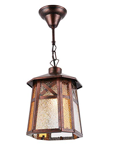 BETLING Outdoor Pendant Lantern Hanging Porch Light Fixture, Oil Rubbed Bronze ()