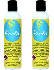 Curls Blueberry Bliss Reparative Leave In Conditioner, 8 Ounces (Pack of 2)