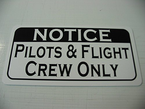 Pilots & Flight Crew ONLY Vintage Retro Art Deco Style Metal Sign for Airport Air Plane Hangar Hotel Motel Bar or Restaurant Highway Motel HWY Gas Service Station (Air Plane Motels)