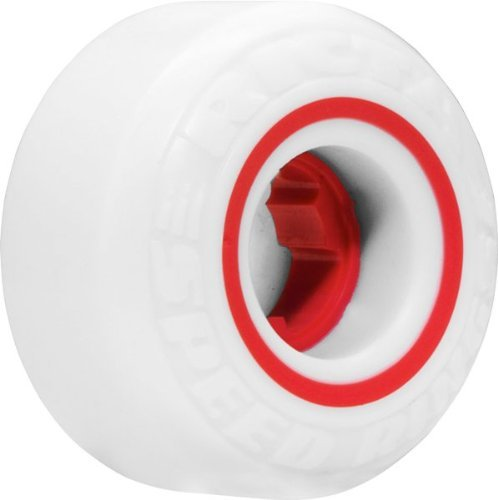 概念上級モンスターRicta Speedrings 51mm White/Red Skateboard Wheels (Set of 4) by Ricta