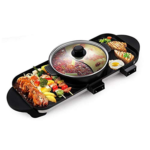 JINPENGRAN Home Smokeless Barbecue Electric Oven, Barbecue Electric Hot Pot One Pot, Large Electric Baking Pan, Can Be Grilled, Fried, Boiled, Braised,Large Capacity by JINPENGRAN (Image #6)