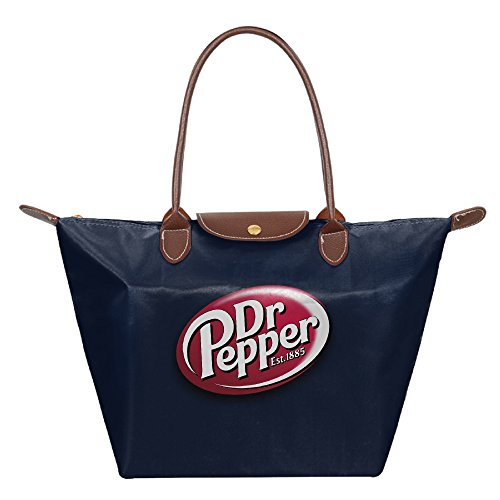 dr-pepper-foldable-shopping-bags-large-tote-handbags-navy