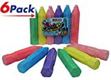 JA-RU Chalk by (36 Count) Chalks for Boards Sidewalks School (6 Packs of 6) | Item #3523-6