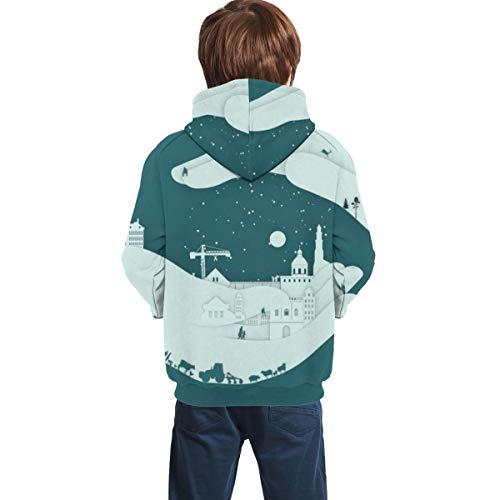 3D Print Teens Pullover Hoodies Artistic Hand Fleece Hooded Sweatshirt for Boys Girls