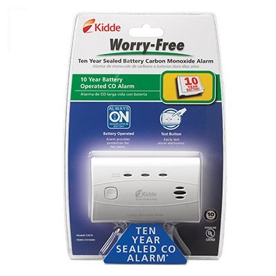 Kidde C3010 Worry-Free Carbon Monoxide Alarm with 10 Year Sealed Battery (6 Pack)