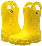 Crocs Kids' Handle It Rain Boot,Yellow,6 M US