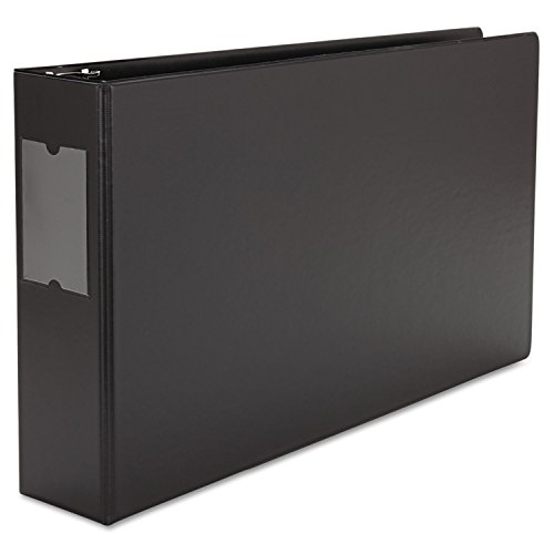 - Universal 35423 Legal-Size Round Ring Binder with Label Holder, 3