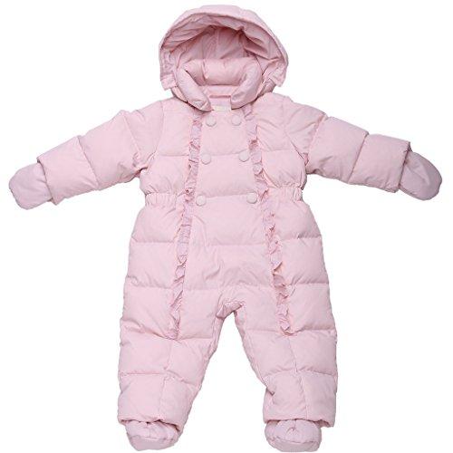 Oceankids Winter Baby Rosa Mädchen Einteiliger Schneeanzug mit Entendaunenfüllung 12-18 Monate