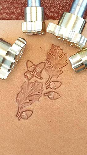Acorn Leather Crafting Stamp Tool for Leather Crafts Brass #88Set by DandS ltd (Image #5)