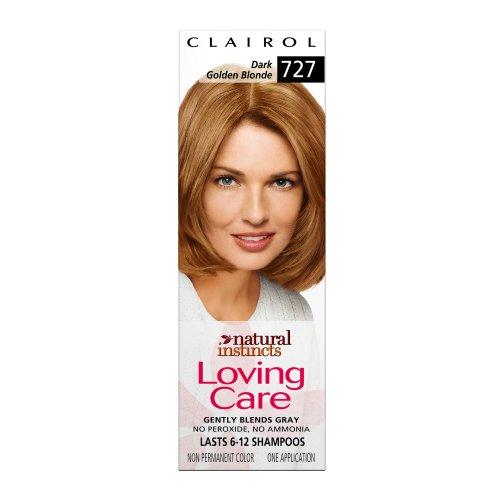 Clairol Natural Instincts Loving Care Color, 727 Dark Golden Blonde (Pack of 3)