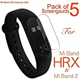 Epaal Screen Protector for Mi Band 2 and Mi Band HRX Edition (Transparent) - Pack of 5