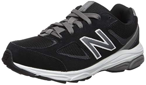 (New Balance Boys' 888v2 Running Shoe, Black/Grey, 6.5 W US Big Kid)