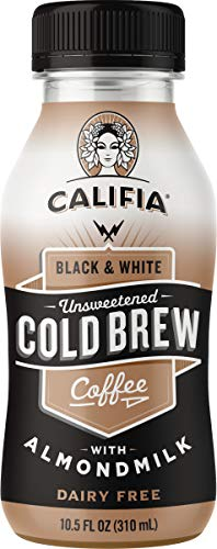 Califia Farms Unsweetened Black & White Cold Brew Coffee With Almondmilk, 10.5 Oz (Pack of 12) | Dairy Free | Whole30 | Keto | Plant Based | Nut Milk | Vegan | Non-Gmo by Califia Farms
