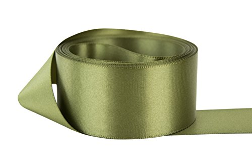 Ribbon Bazaar Double Faced Satin 1-1/2 inch Old Willow 50 yards 100% Polyester (Satin Ribbon Willow)