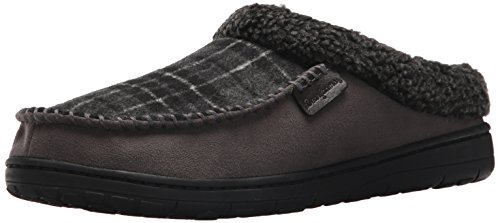 Dearfoams Men's Microsuede Clog Slipper �?Padded Slip-ONS With Memory Foam Insole, Can Be Worn Indoors and Outdoors Pavement