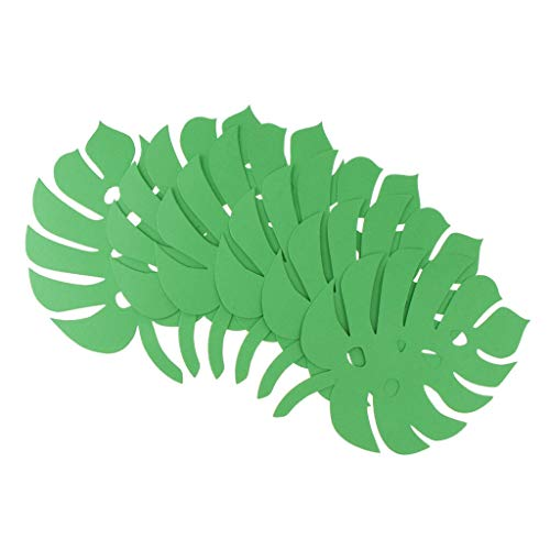Paper Monstera Palm Leaves Backdrop Wall DIY Birthday Wedding Party Decor |Color - Monstera -Dark - Candles Drop Danish