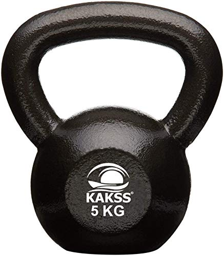 Kakss Cast Iron Kettlebell for Strength/Fitness/Kettle Bell for Home Gym 2 KG to 92KG (Proudly Made in India) 2021 June Premium Material: We started with the highest quality first run in iron available, not scrap. Void free surface: We use a proprietary casting process so each bell can reach the highest quality and have the cleanest finish possible. This also allows us to have a smooth, comfortable handle. Single Piece Casting: The Kakss Kettlebell is cast in one solid piece, creating a stronger, more reliable handle and a void free surface. The Kakss Kettlebell does not use plastic caps, plugs, or patches like lower quality products.