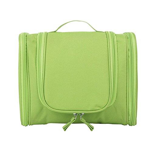 cremallera el bolso organizador Bolso maquillaje Verde manija bolsas colgante de de cepillo las del la de del doble gancho con la mujeres Majome del de cosmético viaje qOAgfwwX