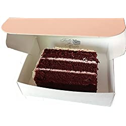 "Food Service Approved Cake Slice Boxes for Slices measuring up to 4-1/2"" x 3-1/2"" x 1-1/4"""