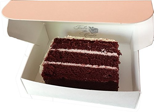 Food Service Approved Cake Slice Boxes for Slices measuring up to 4-1/2