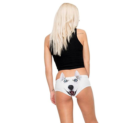 Husky Earpanties - Animal Photo Print Cheekster Panties