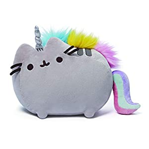 GUND Pusheenicorn Plush Stuffed Animal Rainbow Cat Unicorn, 13″