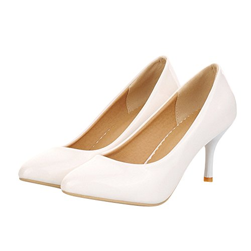 Mee Shoes Womens High-heel Stiletto Candy Color Dress Shoes White prTCYdKyc