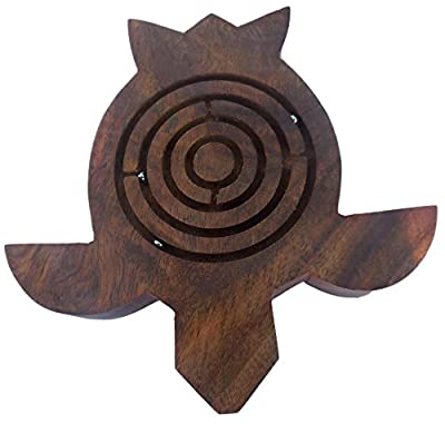 UnitedPrime Wooden Labyrinth Ball Maze Puzzle Game Handcrafted Indian Dexterity Hand Eye Coordination Toys Wood