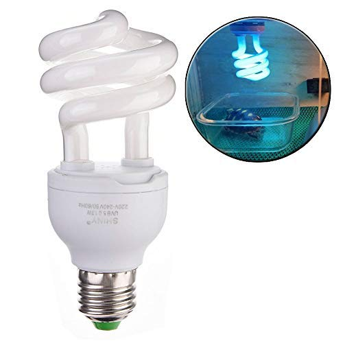 Longlasting Pet UVB Bulbs Compact Fluorescent, UVB Lamp Turtle Light Bulb for Reptiles Amphibian Tortoise Lizard Succulent Plants (10.0)