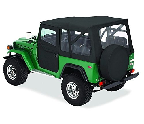 Bestop 51464-15 Black Denim Supertop Classic Replacement Soft Top with Clear Windows; No Doors Included for 1964-1984 Toyota Land Cruiser FJ40