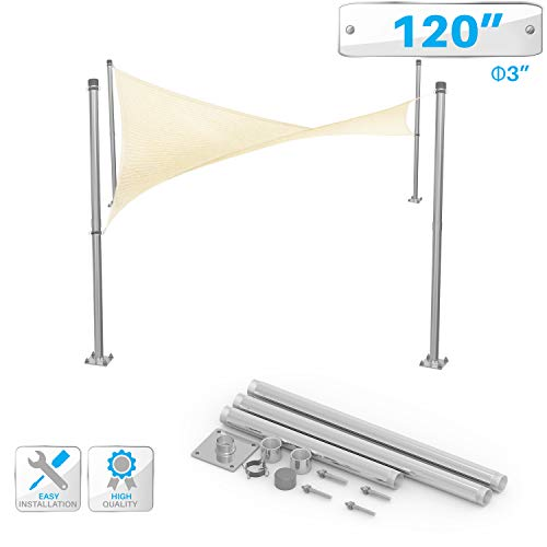 PATIO Sun Shade Sail Canopy Pole Post Kit 10
